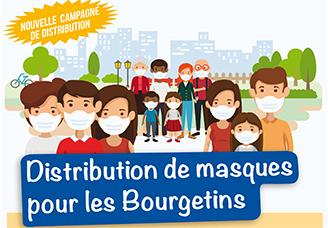 Distribution des masques pour les Bourgetins