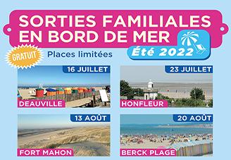 SORTIES FAMILIALES À LA MER